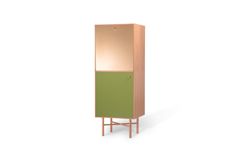 Gaisbauer green front cabinet